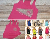 Cheer tank top. Cheerleading tank. Cheerleading shirt. Monogram Cheer shirt. Monogrammed cheer tank top. Cheer Team Shirts.