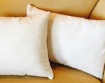 "Quality Feather Pillow Insert | 12""x12"", 16""x16"", 20""x20"", 12""x18"" & 16""x24"""