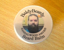 Sandalwood Amyris beard balm. A natural sandal wood scented balm for beard hydration, softening, taming. Beard grooming management products