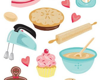 Sticko Scrapbooking Stickers - Baking