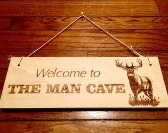 Laser Engraved Outdoorsman Man Cave Wooden Sign *Home Decor Hunting Sign*