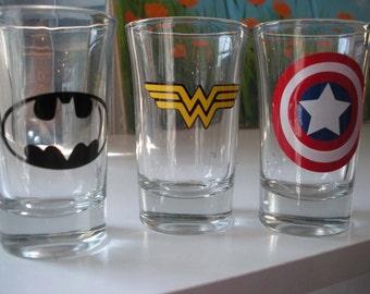 Super Hero Shot Glasses