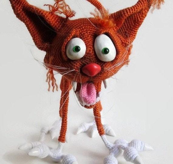 Crochet Amigurumi Kitty : RESERVED: Crochet Amigurumi Cat / Amigurumi Crochet / by ...
