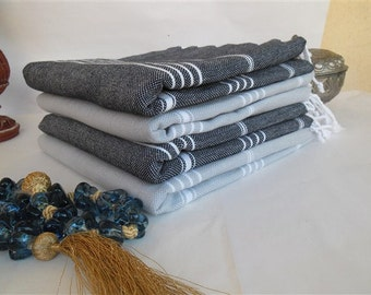 grayblack turkish bath towel beach hammam towel
