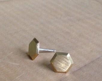 Brass hexagon stud