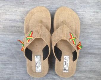 Summer men's slippers-Men sandals-Straw sandals-sandals-Summer sandals men'shoes