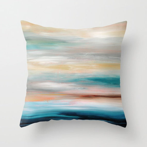 Inexpensive Beach Throw Pillows : Beach Pillow Decorative Throw Pillow Covers Blue Turquoise