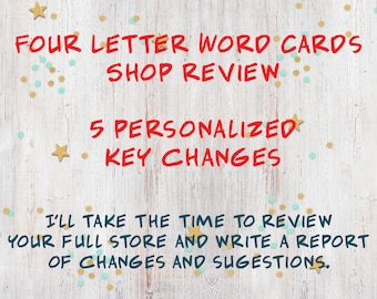 List of 5 key changes, Etsy Shop Reviews, Business Branding, Critiques, Help with Shop, Business make over, Feedback