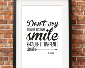 Smile Quote - Jpeg - A4 + 8x10 - INSTANT DOWNLOAD - Digital Print - Wall Art - Printable Poster