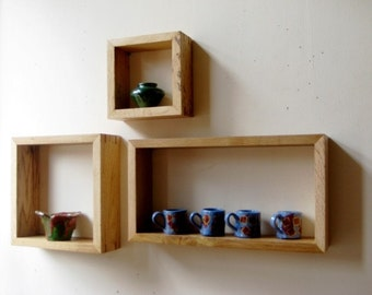 Box shelves,box shelf,wall shelves,floating shelves,rustic shelves,modular shelves,stackable shelves,square box shelves,square shelves