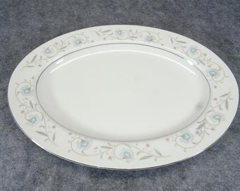 English Garden Fine China 1221 Pattern Oval Serving Platter