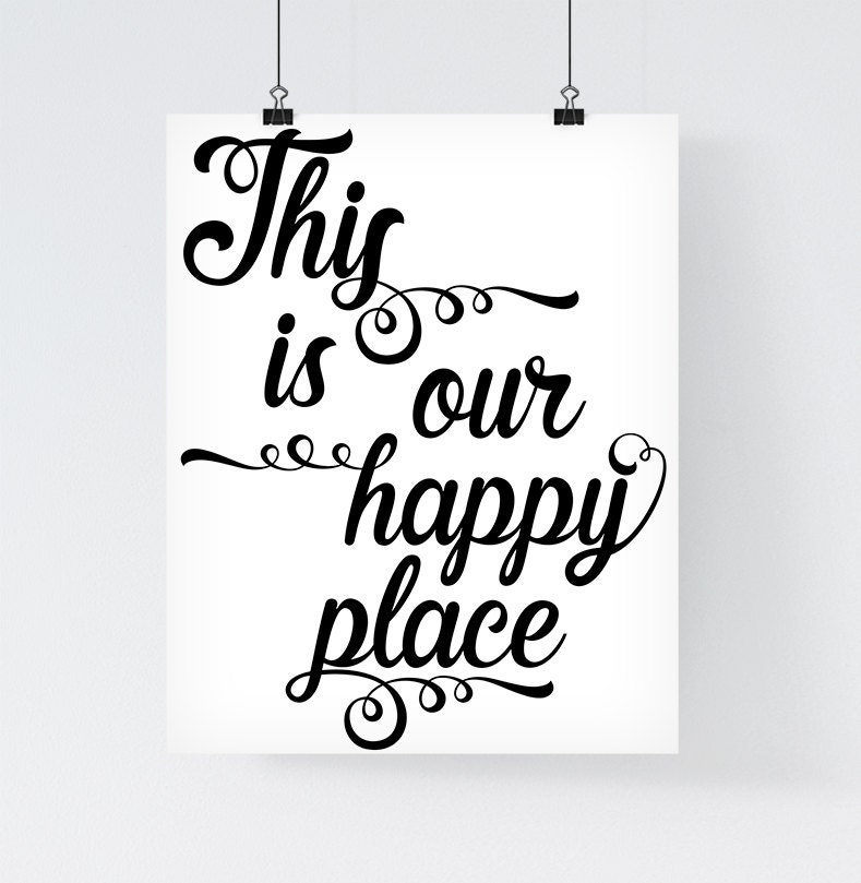 Affiche citation 39 this is our happy place 39 affiche for Affiches scandinaves