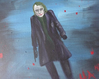 Heath Ledger as The Joker Acrylic Painting, The Joker, Batman, The Dark Knight, Character Art, Fan Art, The Joker Art