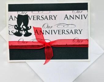 Anniversary Card | Anniversary Greeting | Happy Anniversary Card | I love You | Handmade Card