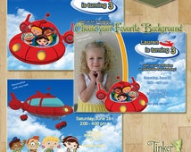 Little Einsteins Birthday Party Invitation - Choose from 3 Backgrounds - Digital File - Printable