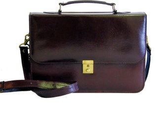The Kate Vintage Inspired Structured Leather Bag