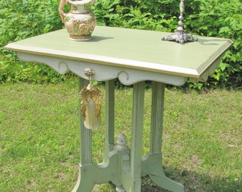 Shabby chic table, cottage chic table, vintage table, parlor table