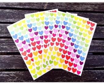 Multi coloured Heart Stickers