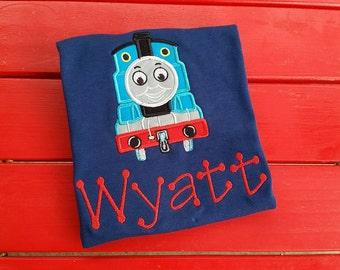 custom personalized Thomas the train tshirt/onsie