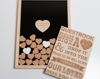 Heart Drop Box - Guest Book Alternative - Wedding & Baby Shower - Heart Guest Book - Wedding Guest Book