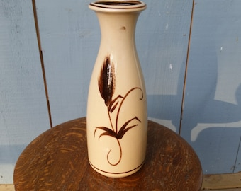Scheurich-Keramik West Germany Pottery Vase with Wheat Sheaf Design - 1960's