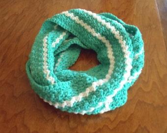 Crochet Green Infinity Scarf