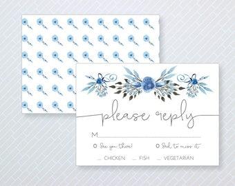 Rustic Modern Wedding Reply Card - Rustic Modern Response Card - Rustic Modern RSVP