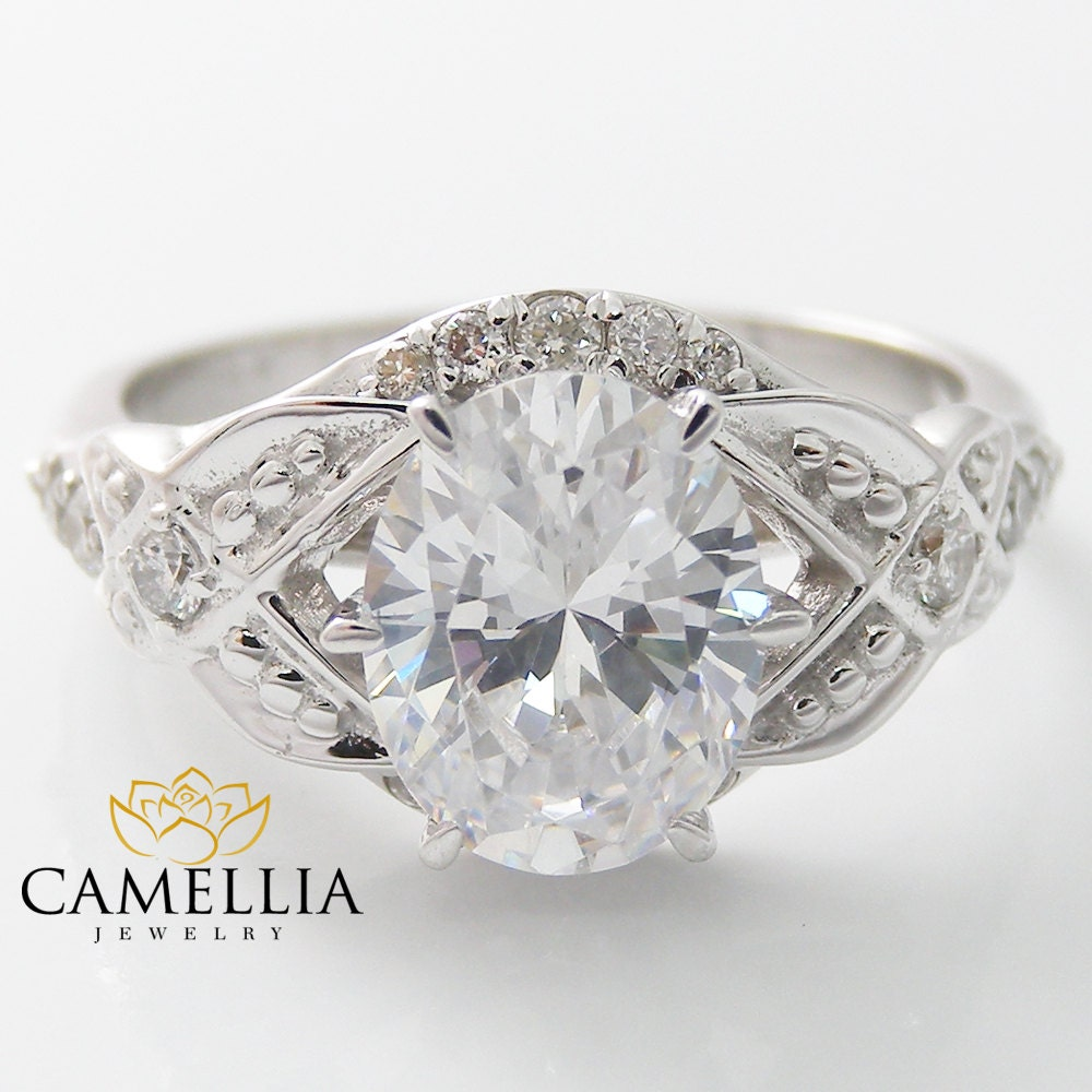 oval diamond engagement ring 14k white gold unique engagement. Black Bedroom Furniture Sets. Home Design Ideas