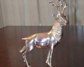 Silver Reindeer statue