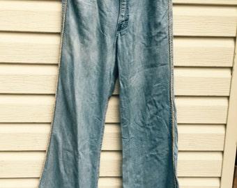 Vintage 70's denim bell bottoms