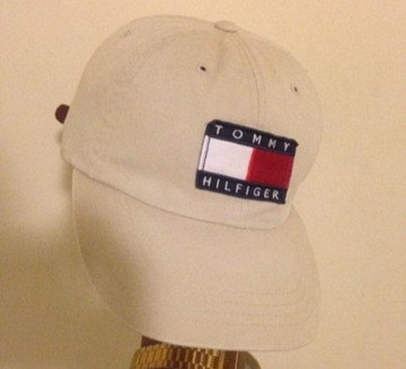 Vintage Tommy Hilfiger Leather Strapback Hat Cap By Vintage6ix