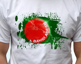 Bangladesh Flag - new white t shirt country print design 100% cotton - Mens, womens, kids & baby bodysuit