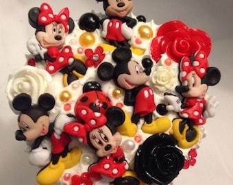 Mickey and Minnie Glass Jar