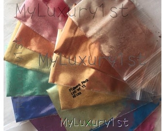 Mica Lot of 15 Soap Making, Mineral Make up, Eye, Lip, Lotion Shimmer Resin Slime Powder Samples 1g Each All Colors Number 1 selling CP MP