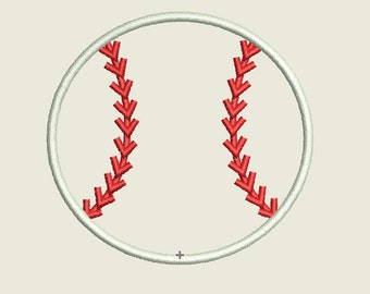 Baseball Applique Design, Base Ball Embroidery, Baseball Embroidery Applique, Sports Embroidery,Baseball, Ball Applique, 4 Sizes