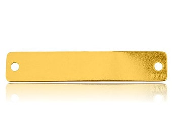 Gold-plated Bar for Necklaces Silver 925