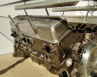 Early Model Corvette V8 Engine Table Automotive Decor