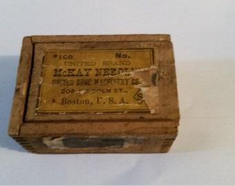Vintage needle box