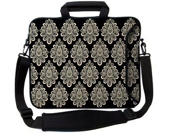 "Damask Macbook Pro Case 13"", 14"", 15"", 17"" laptop case, Damask Bag, Mackbook laptop case, laptop bag, laptop sleeve,neoprene laptop bag"