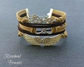 Love Bracelet, Angel Wing Bracelet, Faith Jewelry, Gift for Her, Angel Wing Jewelry, Word Bracelet, Infinity Bracelet, Rhinestone Bracelet