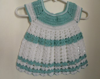 Crocheted Summer Baby Dress, 0-3 months old Baby Dress