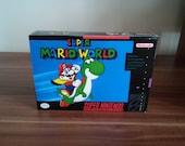 SNES Super Mario World  Repro Box and Insert