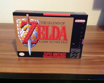 SNES The Legend of Zelda -  Link to the Past -  Repro Box and Insert No Game Included
