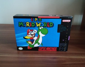 SNES Super Mario World -Replacement  Box and Insert