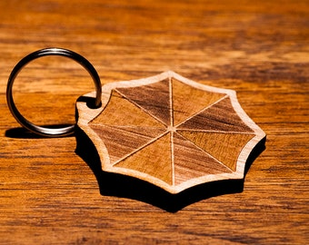 Umbrella Corporation Logo Key Chain - Resident Evil