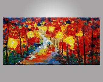Landscape Art, Large Art, Original Art, Landscape Painting, Abstract Art, Abstract Painting, Canvas Painting, Large  Art, Oil Painting