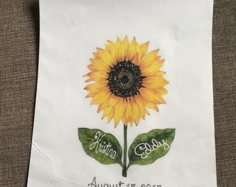 The perfect sunflower themed cookie or candy buffet favor bag!