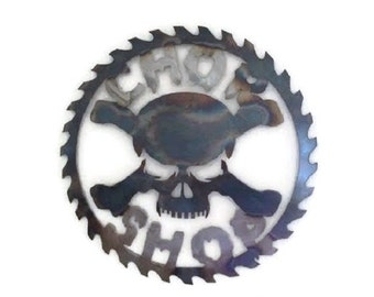 Chop Shop Wall Hanging 16X16 Heat Treated (for color)