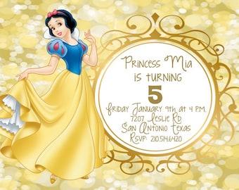 Snow White Digital Invitation