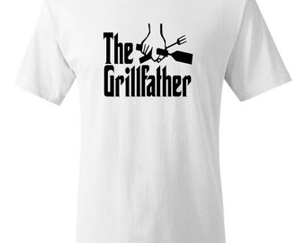 The Grillfather Tshirt Father's Day Tee Shirt Mens Father Dad Geek T-shirt Tee Shirt